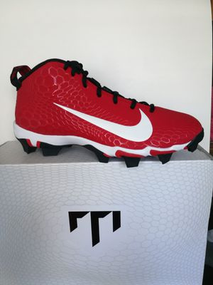 Baseball / softball cleats Original NIKE Mike TROUT, size 10, RED for Sale in Hollywood, FL