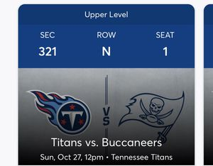 Titans vs Bucs for Sale in Nashville, TN