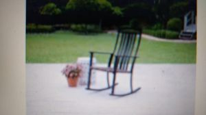 Better Homes & Gardens Belle Drive Outdoor Steel Wicker Rocking High Back Chair, Black for Sale in Warren Park, IN
