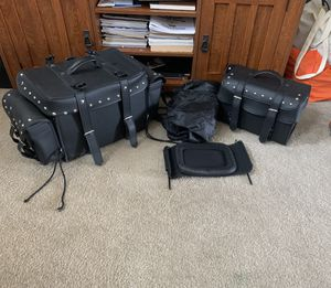 Motorcycle saddle bags and cover for Sale in Rockledge, FL