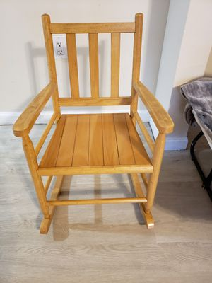 Kid wooden rocker chair for Sale in Tampa, FL