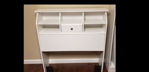 White twin headboard with shelves for Sale in San Antonio, TX