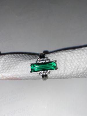 Emerald Silver Ring Size 9 for Sale in Dallas, TX