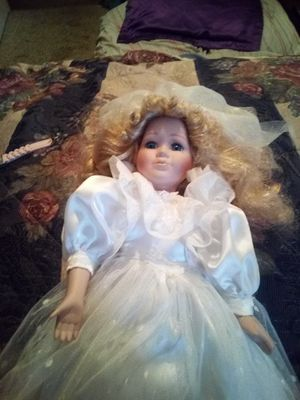 Porcelain bride doll for Sale in Deville, LA