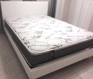 New queen or full bed frame with mattress. Nightstand not included. Delivery for Sale in Lake Worth, FL