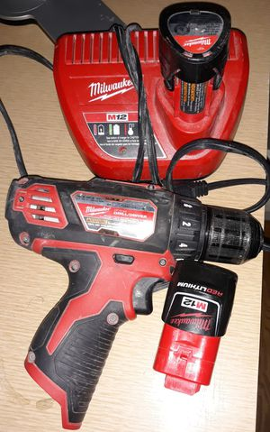 Milwaukee Drill/Driver w/ 2 Batteries for Sale in Detroit, MI