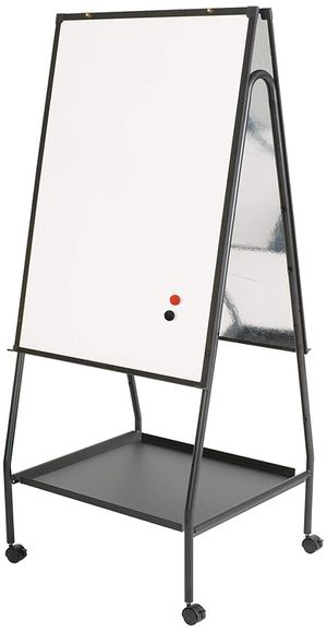 "Best-Rite Wheasel, Double Sided Magnetic Dry Erase Porcelain Steel Whiteboard Easel, 65""H x 28.75""W x 27""D (770) for Sale in Sacramento, CA"