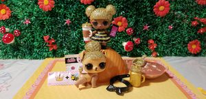 Lol doll queen bee gold.and pet for Sale in Hialeah, FL
