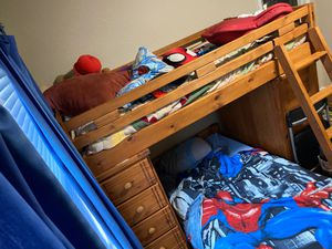 Bunk bed w/desk and dresser for Sale in Chesapeake, VA