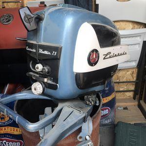 Boat Motor Evenrude Fleet Twin 7.5hp for Sale in Hanford, CA