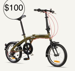 "Bike 16"" 6-speed Folding Bike with Ultra-Portable Frame for Sale in Alexandria, VA"