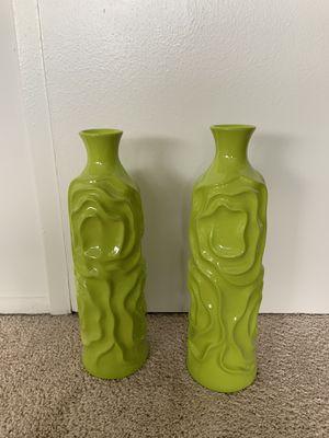 Green Vases (2) for Sale in Alexandria, VA