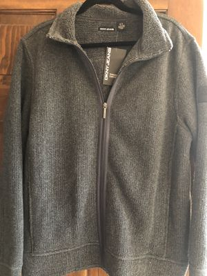 New DKNY JEANS Grey Zippered Sweater XL for Sale in West Chicago, IL