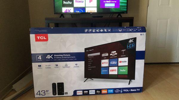 "TCL - 43"" - Smart - 4K UHD TV with HDR - Roku TV"