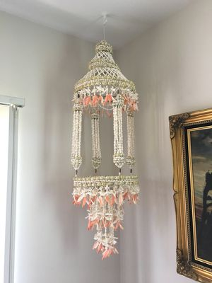 Vintage Bohemian Plant Holder Shell Chandelier for Sale in Los Angeles, CA