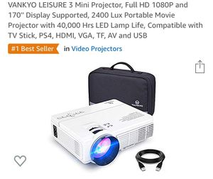 Vankyo Video Projector for Sale in Mesa, AZ