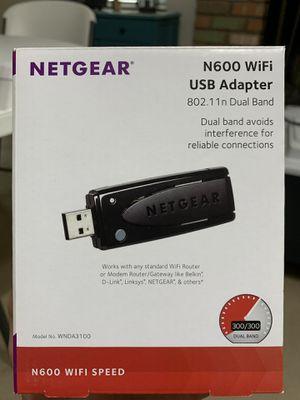 NETGEAR N600 WiFi USB Adapter for Sale in Glendale, AZ