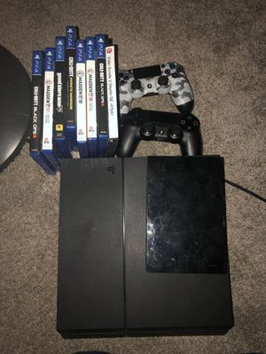 PlayStation 4 with games for Sale in Schaumburg, IL