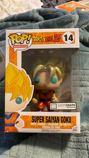 Super Saiyan Goku Loot cremate exclusive funko pop with card for Sale in San Jose, CA