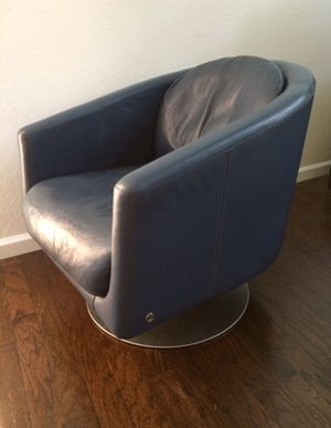 Vintage MCM Natuzzi Leather Swivel Chair for Sale in Tampa, FL