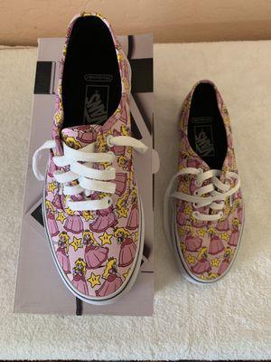 Princess Peach Nintendo vans shoes size 8.5 for Sale in Phoenix, AZ