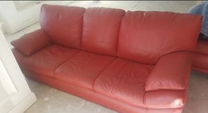 RED LEATHER FURNITURE SET ..4 Sale!! $600!! for Sale in Fort Washington, MD