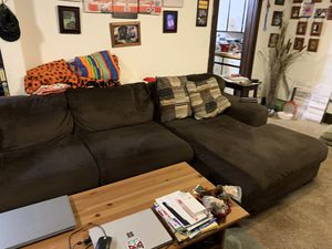 Sectional couch w/ matching chair $275 for Sale in Monroe, WA