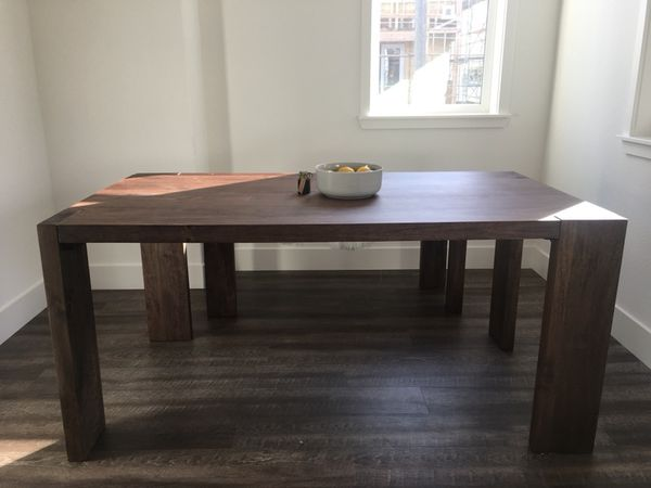 Cb2 Blox Dining Table And Bench Set For Sale In Sacramento Ca Offerup