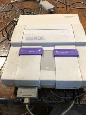 Super Nintendo with remote and games for Sale in Norcross, GA