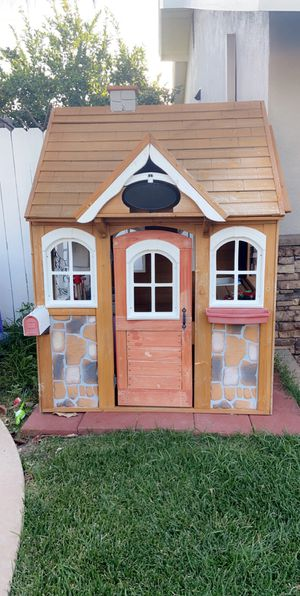 Wooden Play House with Kitchen for Sale in Corona, CA