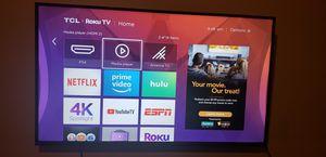 TCL 55 inch 4K Ultra HD HDR Roku Smart TV for Sale in Rowlett, TX