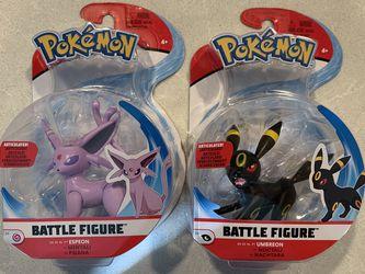 Espeon & Umbreon Pokémon Battle Figures *MINT* Eevee Eeveelutions Jazwares Pokemon for Sale in Lewisville,  TX