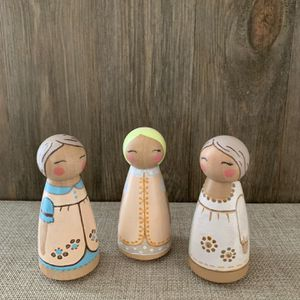 Lovely Peg Dolls ready for play // Eco-Friendly for Sale in McDonald, TN