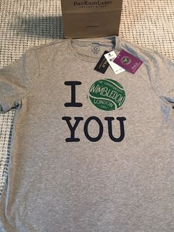 """Ralph Lauren Polo Wimbledon """"I Love You"""" 🎾 Vintage 2019 Tee Size L for Sale in Dallas,  TX"""