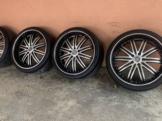 """Velocity Wheels 20""""s W Tires 255/35zr20 Lugs Pattern 5*114.3 for Sale in Los Angeles,  CA"""