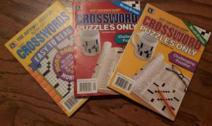 Crossword Puzzle Book Bundle of 3 for Sale in Patsey, KY