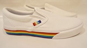 White rainbow 🌈 slip on Vans for Sale in Los Angeles, CA