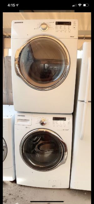 Samsung front load electric washer and dryer with 3 months warranty free delivery and installation free Oakland area for Sale in Oakland, CA