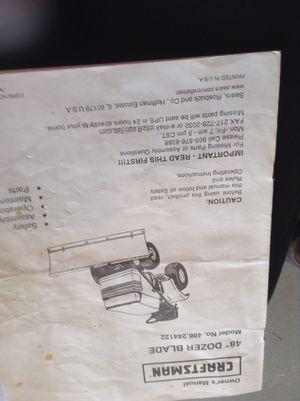 """Craftsman 48"""" dozer blade and box scraper for Sale in Leavenworth, WA"""