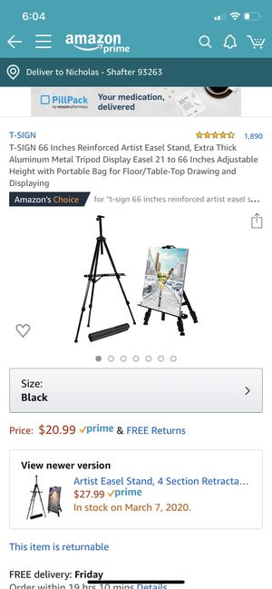 """66"""" Field Easel with bag for Sale in Shafter, CA"""