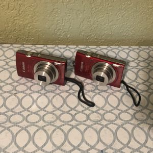 2 Canon Powershot Elph 180 Cameras With Box And Charger for Sale in Houston, TX