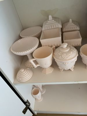 Pink milk glass for Sale in Buna, TX