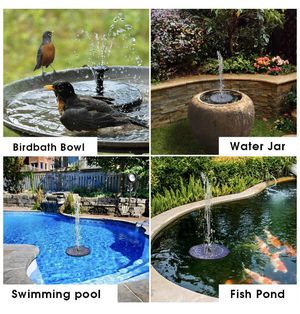 Brand new Solar Bird Bath Fountain Pump, 2.5W Solar Fountain for Sale in LAUD LAKES, FL