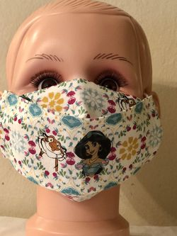 Disney Princess Jasmine Kid Size 3D Face Mask for Sale in San Jose,  CA