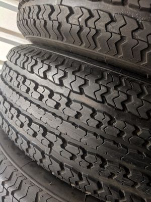 THREE SEMI NEW 225 75 15 HERCULES TRAILER TIRES LOAD RANGE E for Sale in Banning, CA