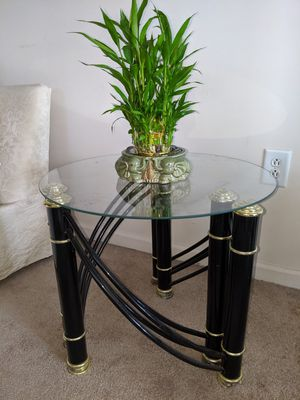 Glass end tables for Sale in Woodbridge Township, NJ