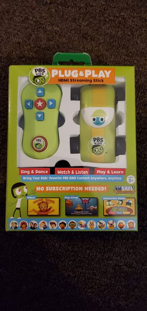 PBS kids plug & play HDMI stream stick for Sale in Bell Gardens, CA