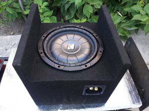 """10"""" 》》KICKER COMPVT 4 ohm Subwoofer and box for Sale in Los Angeles, CA"""