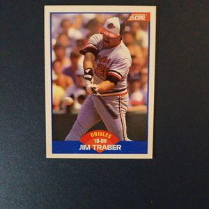 Jim Traber 1989 Score Baseball Card for Sale in Woodbine, MD