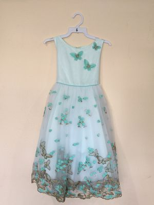 New Mint Blue Flower Girls Party Dress Size 6 for Sale in Hacienda Heights, CA